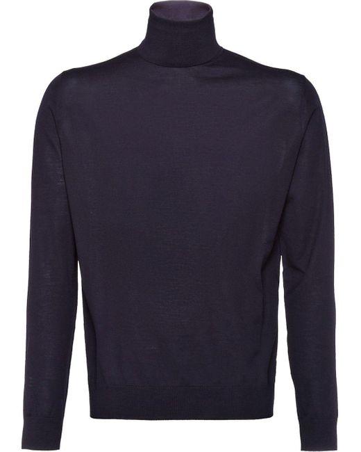 メンズ Prada タートルネック セーター Blue