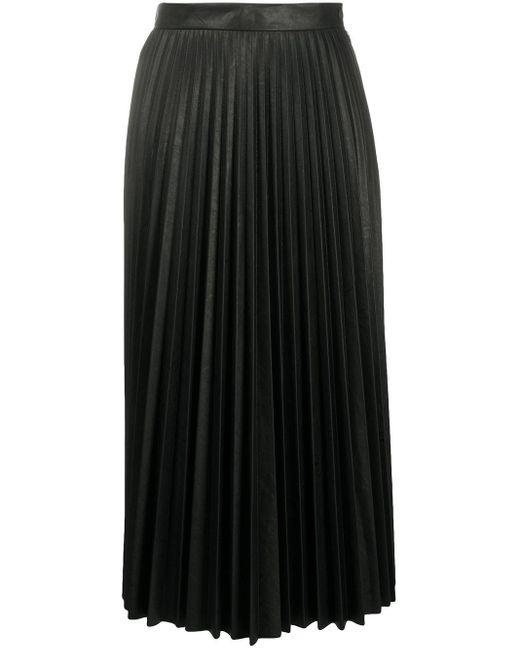 Плиссированная Юбка Миди MM6 by Maison Martin Margiela, цвет: Black
