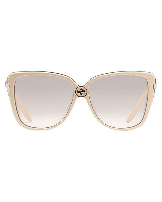 Солнцезащитные Очки В Массивной Оправе Gucci, цвет: Multicolor