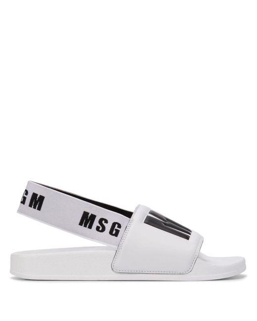 MSGM スリングバック サンダル White
