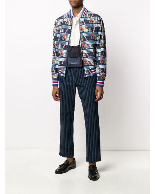 メンズ Dolce & Gabbana プリント ボンバージャケット Blue