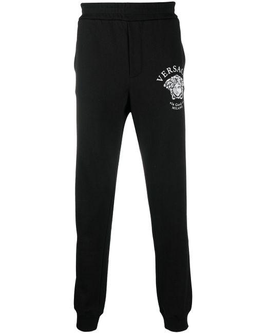 Спортивные Брюки С Декором Medusa Versace для него, цвет: Black