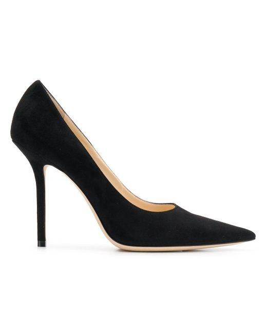Jimmy Choo Love 100 レザー パンプス Black