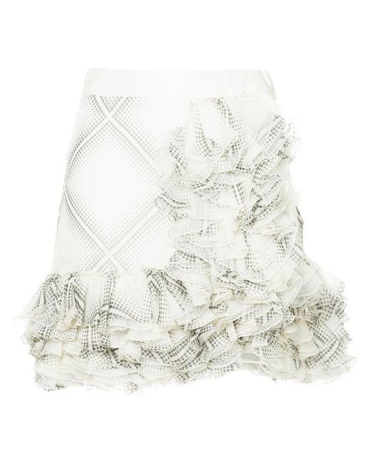 Giambattista Valli - White Flamenco-style Short Ruffle Skirt - Lyst