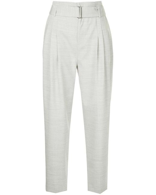 Comme Moi - Gray Belted Tapered Trousers - Lyst