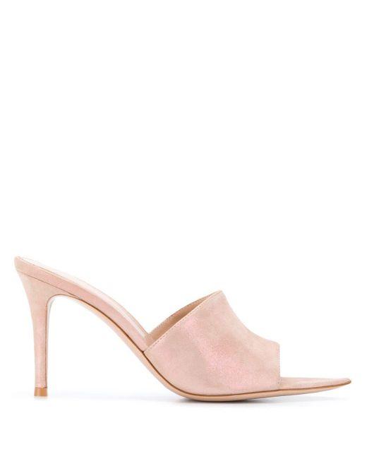 Gianvito Rossi Elle オープントゥ ミュール Pink