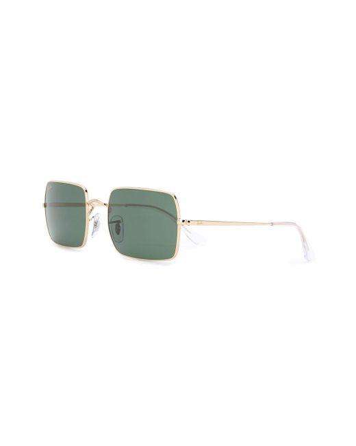 Солнцезащитные Очки В Прямоугольной Оправе Ray-Ban, цвет: Metallic