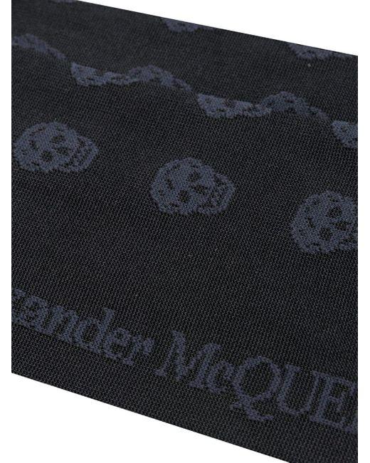 メンズ Alexander McQueen スカル 靴下 Black