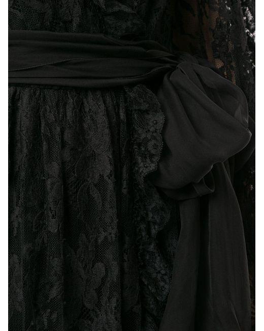 Вечернее Платье С Цветочным Кружевом Dolce & Gabbana, цвет: Black