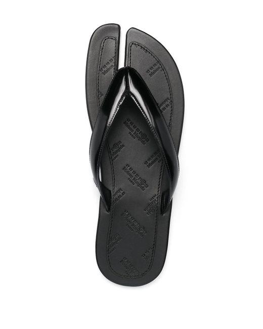 Maison Margiela Black Tabi Toe Flip Flops for men