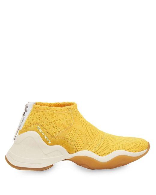 Fendi Ffluid ハイテクジャカード スニーカー Yellow