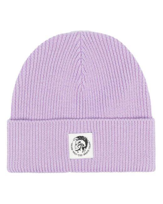 DIESEL パッチ ビーニー Purple