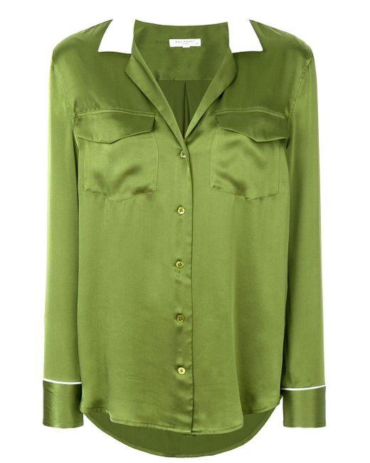 Equipment シルクシャツ Green
