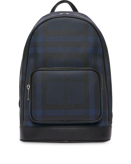 Sac a dos noir London Check Burberry en coloris Black