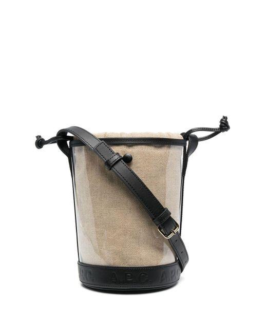 A.P.C. エンボスロゴ バケットバッグ Black