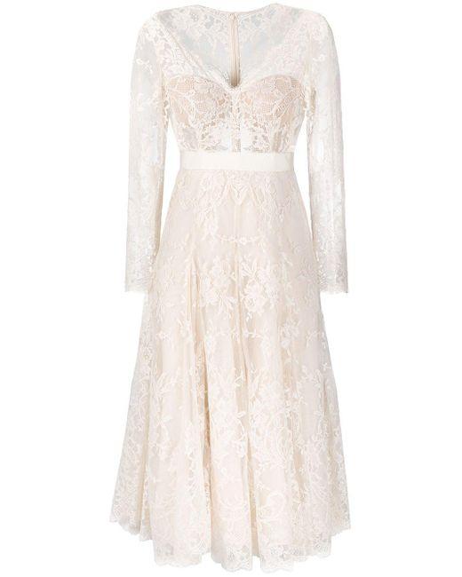 Alexander McQueen エンブロイダリー ドレス White