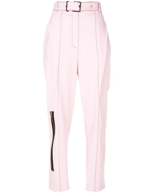 Proenza Schouler | Pink Tailored Zipped Trousers | Lyst