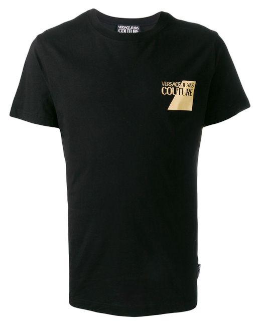 メンズ Versace Jeans ロゴ Tシャツ Black