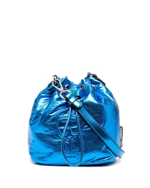 Karl Lagerfeld K/ikonik バケットバッグ Blue