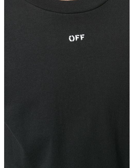 Футболка С Логотипом Off-White c/o Virgil Abloh для него, цвет: Black