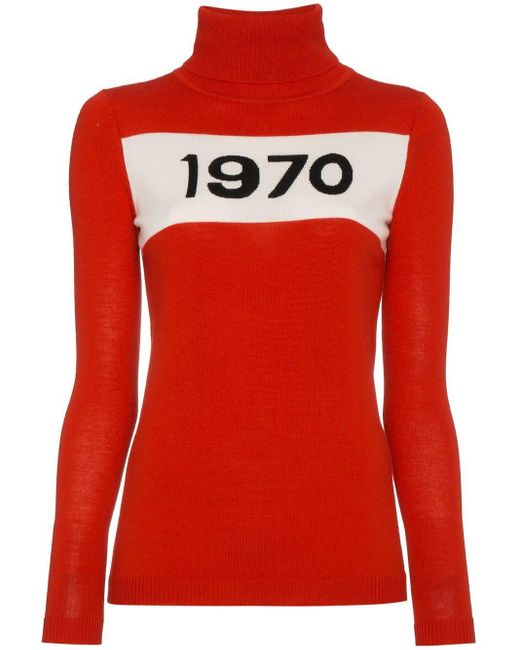 Bella Freud タートルネック セーター Red