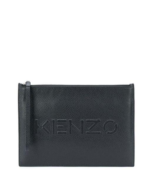 KENZO ロゴ クラッチバッグ Black