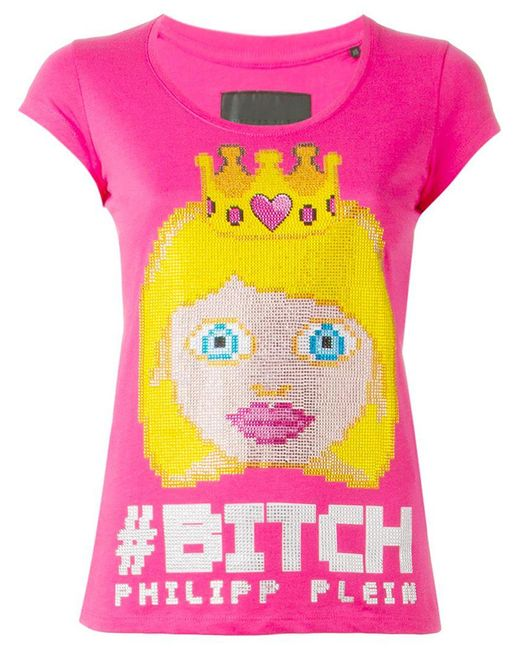 Philipp Plein   Pink 'the Princess' T-shirt   Lyst