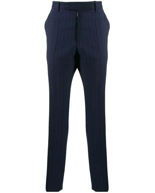 メンズ Maison Margiela ストライプ テーラードパンツ Blue