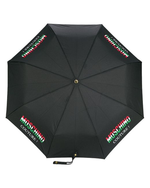 Moschino Black Couture! Print Umbrella