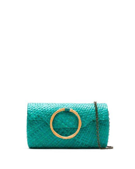 Соломенный Клатч Serpui, цвет: Green