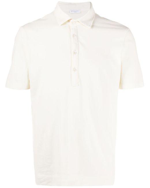 メンズ Boglioli ピケ ポロシャツ White