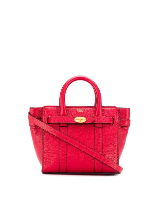 Mulberry Bayswater ハンドバッグ マイクロ Red