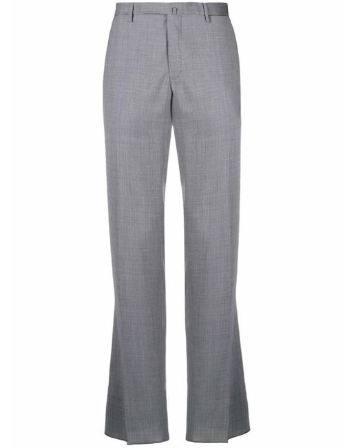 Incotex Blue Micro-textured Trousers for men