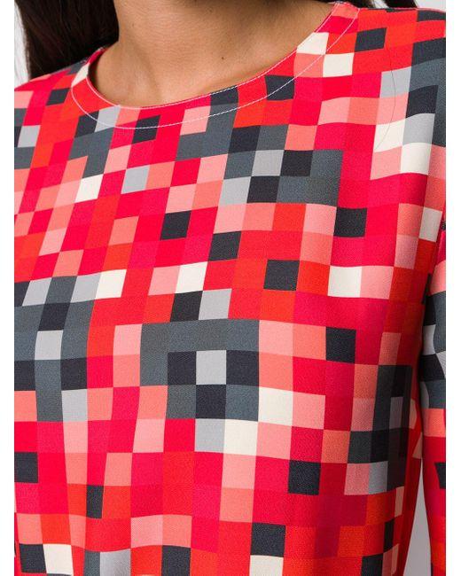 Блузка С Принтом И Длинными Рукавами Marni, цвет: Red