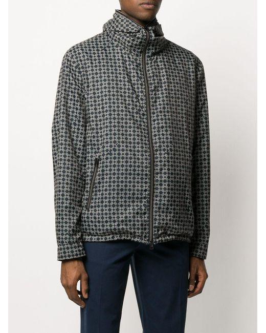Куртка С Капюшоном И Геометричным Принтом Etro для него, цвет: Black