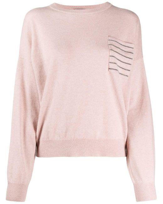Brunello Cucinelli Monili セーター Pink