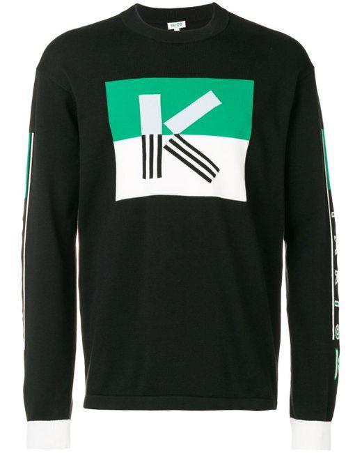 Pull K colour block KENZO pour homme en coloris Black