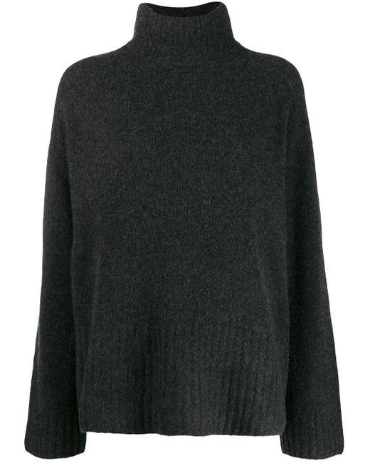 6397 タートルネック セーター Black