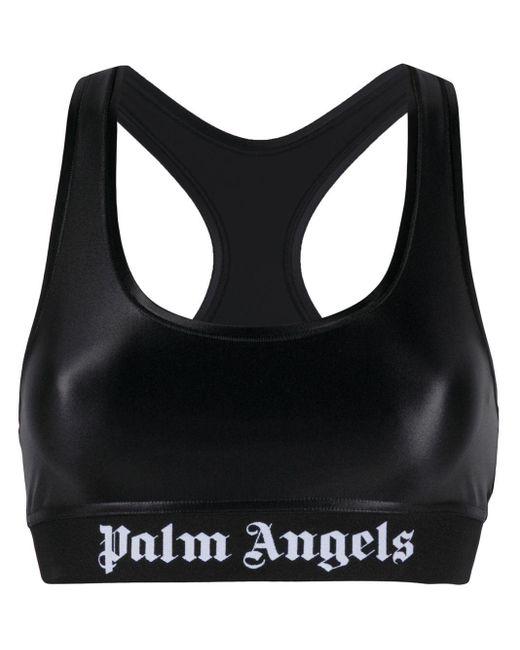 Classic Logo Sports Bra Black White Palm Angels