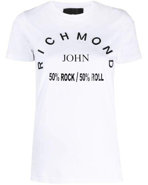 John Richmond ロゴ Tシャツ White