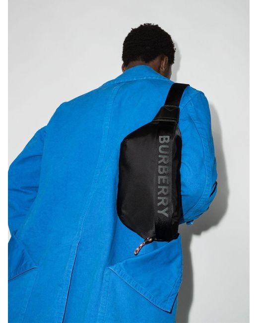 Сумка-мессенджер С Контрастным Логотипом Burberry для него, цвет: Black