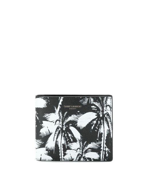 Бумажник С Принтом Saint Laurent для него, цвет: Black