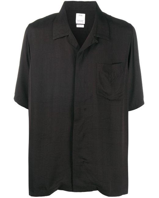 Visvim Black Painted Dragon Print Shirt for men