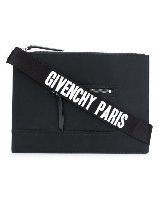 Givenchy - Black Flat Pandora Messenger Bag for Men - Lyst