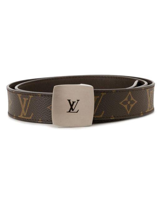 Louis Vuitton ロゴバックル ベルト Brown