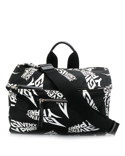 メンズ Givenchy ロゴ ハンドバッグ Black