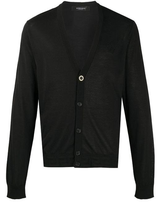 Кардиган На Пуговицах Versace для него, цвет: Black