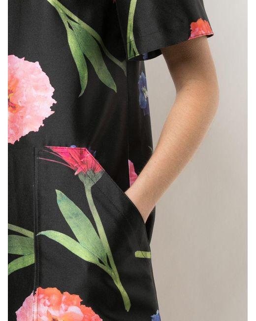 Carolina Herrera フローラル Tシャツワンピース Black