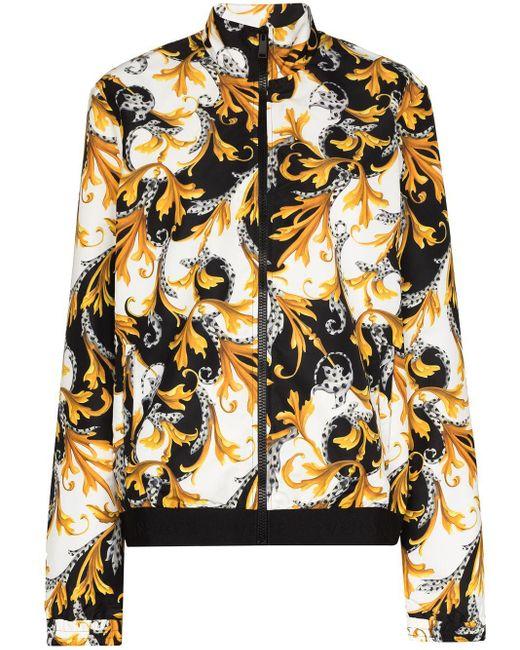 Спортивная Куртка С Принтом Baroque Versace, цвет: White