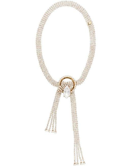 Miu Miu New Crystal Jewels ネックレス Metallic